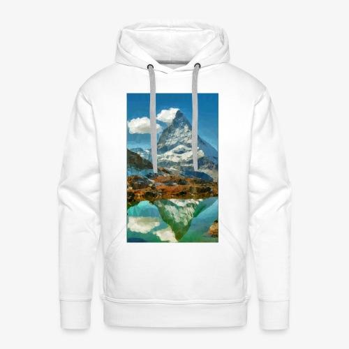 Matterhorn Triangulation - Männer Premium Hoodie