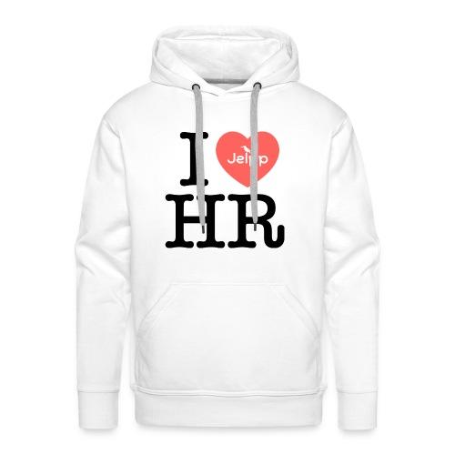 I love HR - Miesten premium-huppari