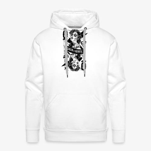 Reine de soles / Queen of Hearts - Sweat-shirt à capuche Premium pour hommes