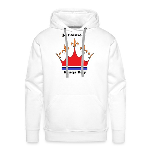 Je taime Kings Day (Je suis...) - Mannen Premium hoodie