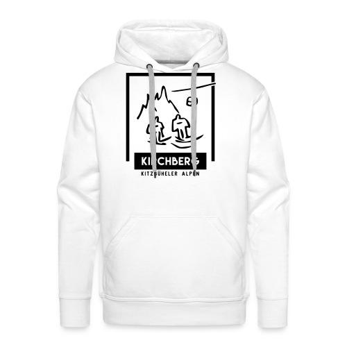 Skiing Kirchberg - Mannen Premium hoodie