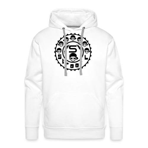 rawstyles rap hip hop logo money design by mrv - Bluza męska Premium z kapturem