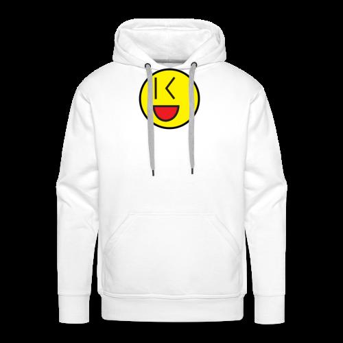 Cool Wink Smiley Hoodie - Men's Premium Hoodie