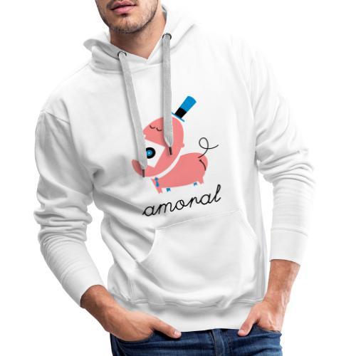Amoral - Sudadera con capucha premium para hombre
