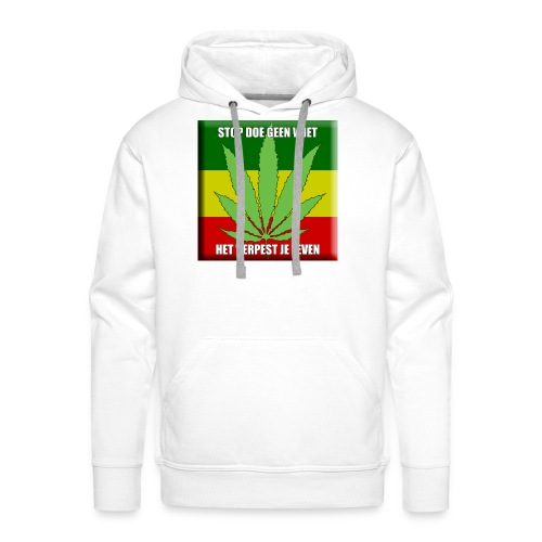 stop met wiet snapback - Mannen Premium hoodie