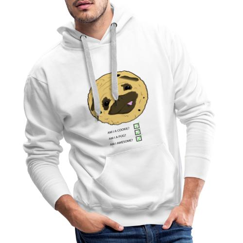 Pug Cookie - Mannen Premium hoodie