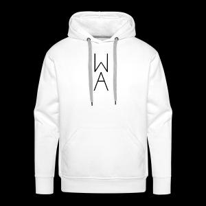Minimal/Analog logo - Felpa con cappuccio premium da uomo