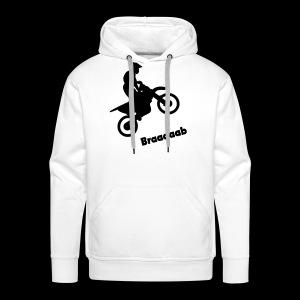 Motorrad im Wheelie - Männer Premium Hoodie