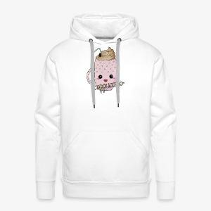 Cappuccino Kawaii - Sweat-shirt à capuche Premium pour hommes