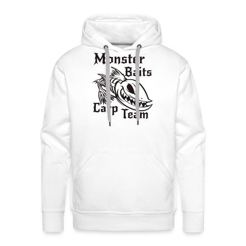 MONSTER_BAITS_WHITE - Bluza męska Premium z kapturem