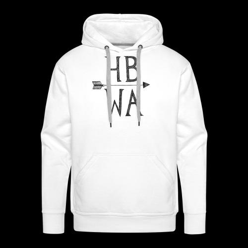 HBWA Logo Schwarz - Männer Premium Hoodie