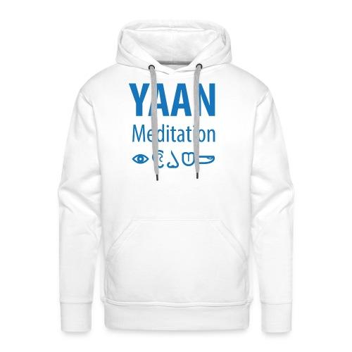 Yaan Meditation Logo Blau - Männer Premium Hoodie