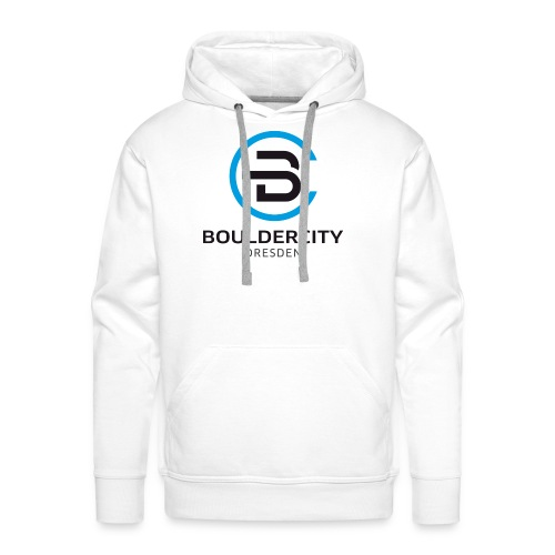 Bouldercity Dresden Blau Schwarz - Männer Premium Hoodie
