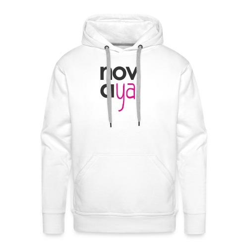 Logo Novaya! - Sweat-shirt à capuche Premium pour hommes