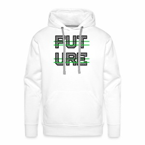 Future Clothing - Green Strips (Black Text) - Men's Premium Hoodie