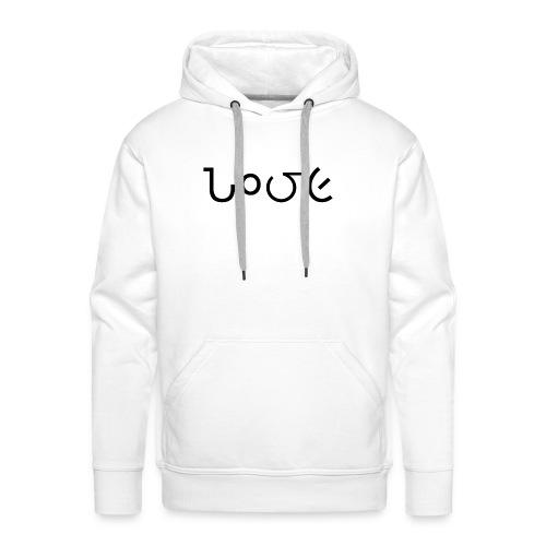 Love schrift schwarz - Männer Premium Hoodie