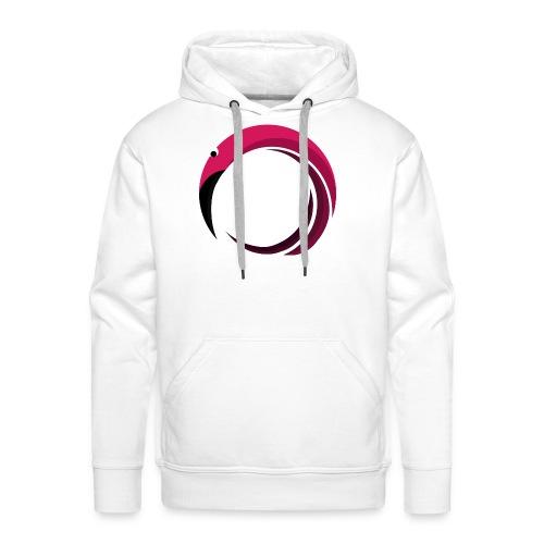 Flamingo! - Sweat-shirt à capuche Premium pour hommes