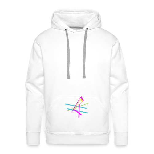 ligne multicolore - Sweat-shirt à capuche Premium pour hommes