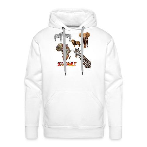 Safari africain - Sweat-shirt à capuche Premium pour hommes