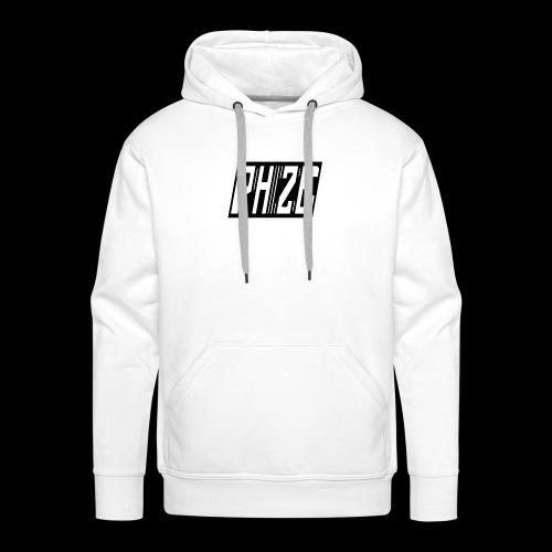 PHIZE NOIR - Sweat-shirt à capuche Premium pour hommes