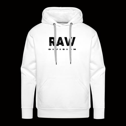 Raw DIvision BLACK LOGO - Men's Premium Hoodie