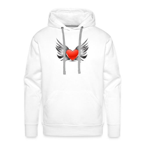 Heart Wings - Sweat-shirt à capuche Premium pour hommes