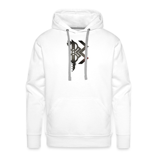 viking lettre B - Sweat-shirt à capuche Premium pour hommes