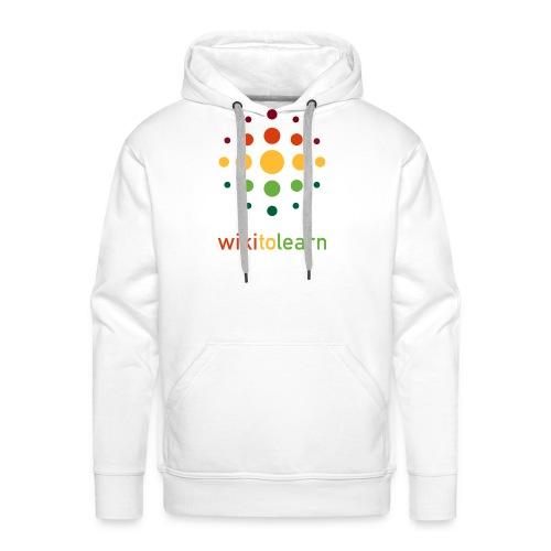 wikitolearn-logo - Felpa con cappuccio premium da uomo