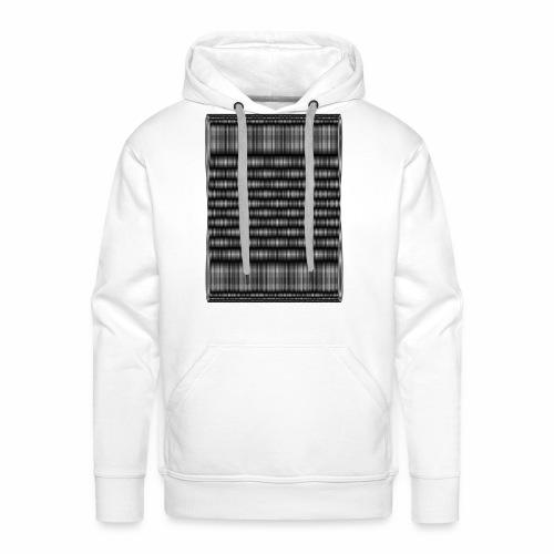 Moire III [Noir] - Sweat-shirt à capuche Premium pour hommes