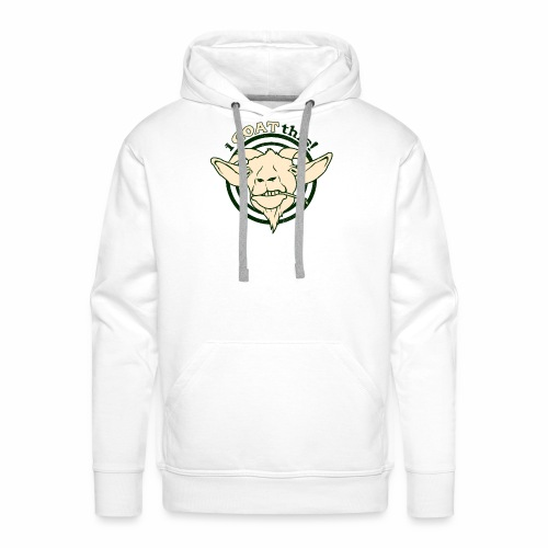 Funny Play on Words Goat Animal - Men's Premium Hoodie