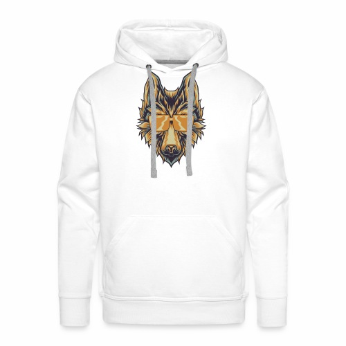 Wolf With Sunglasses T-Shirt Canine Wolves Head - Men's Premium Hoodie