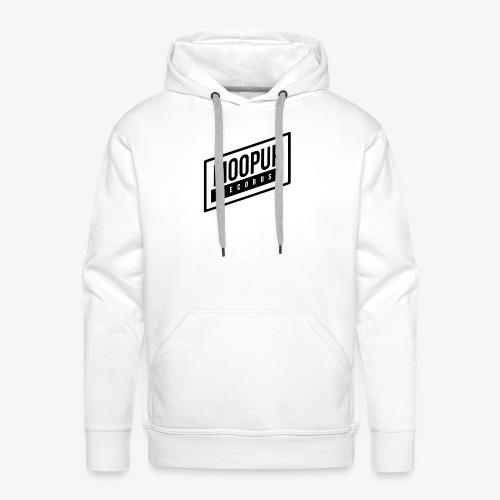 Moopup Records Merchandising (Black Logo) - Sudadera con capucha premium para hombre