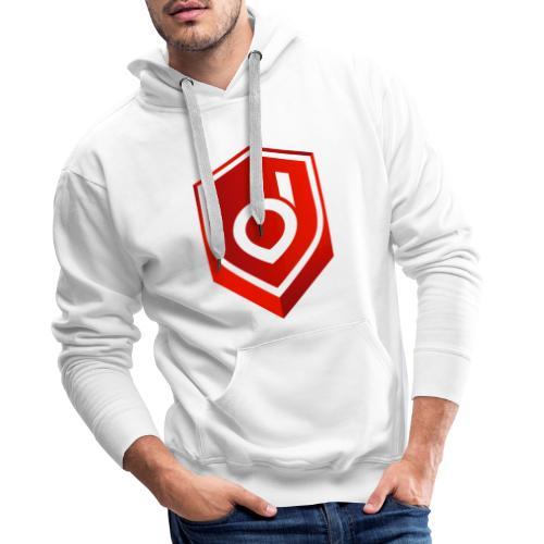 Logo Red Inverted - Männer Premium Hoodie