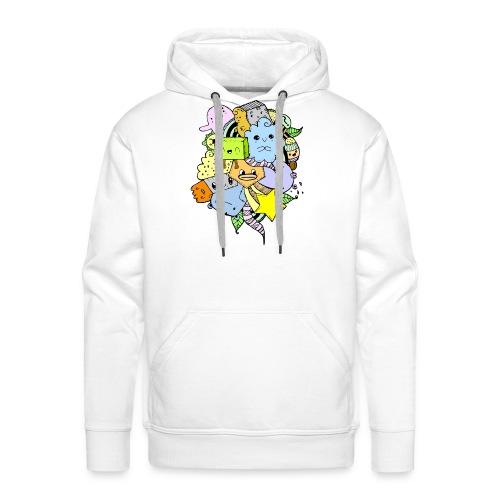 Doodle Art - Sudadera con capucha premium para hombre