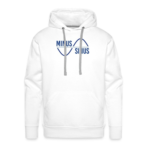 Minus Sinus Logo für hellen Hintergrund - Männer Premium Hoodie