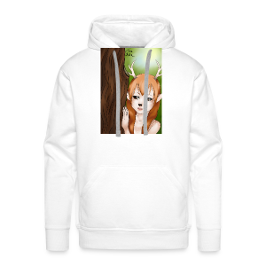 Womens tank: Deer-girl Design by Tina Ditte - Men's Premium Hoodie