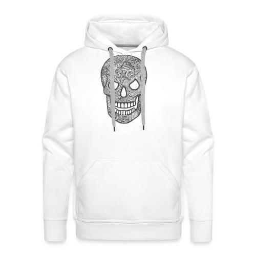 Zentangle Skull 1 - Mannen Premium hoodie