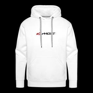 logo most partenaire drt 1 - Sweat-shirt à capuche Premium pour hommes