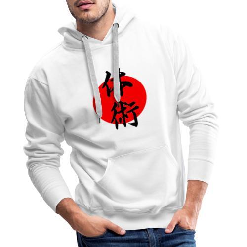 soleil kanji - Sweat-shirt à capuche Premium pour hommes