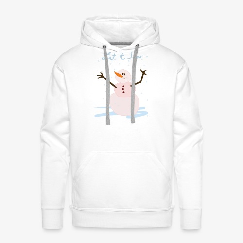 snowman let it snow - Men's Premium Hoodie