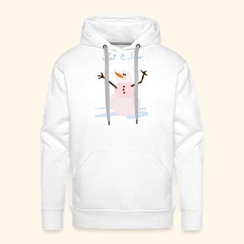 snowman let it snow - Sweat-shirt à capuche Premium pour hommes