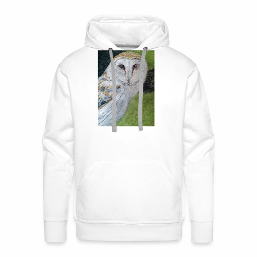 Curious Scottish owl - Men's Premium Hoodie