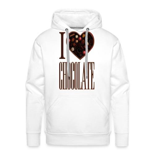 I Love Chocolate - Men's Premium Hoodie