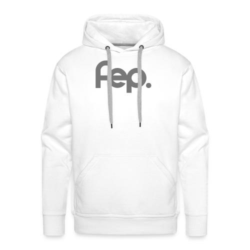 FEP logo gray - Men's Premium Hoodie
