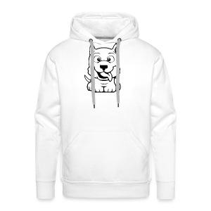 dog cartoon bully - Sweat-shirt à capuche Premium pour hommes