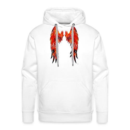 Fire wings - Sudadera con capucha premium para hombre