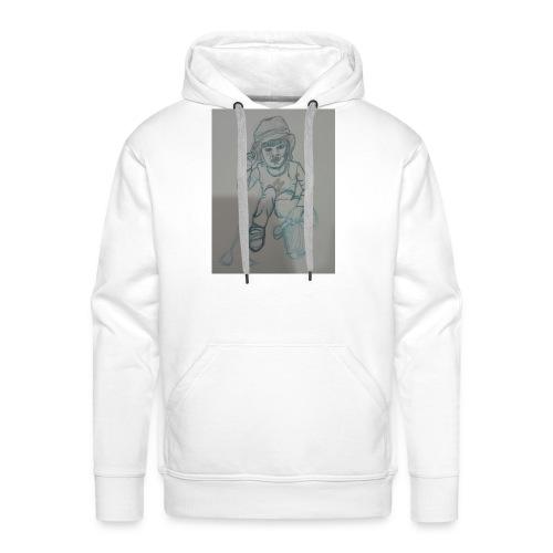 Camiseta con retrato - Sudadera con capucha premium para hombre