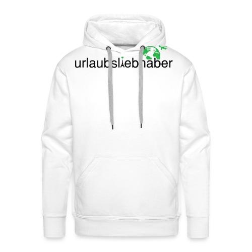urlaubsliebhaber grün-schwarz- dünne Schrift - Männer Premium Hoodie