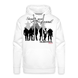 OLDSCHOOL Classic Stand your ground Biker - Männer Premium Hoodie