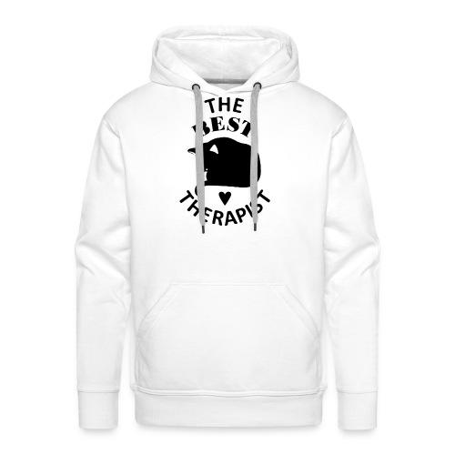 Cat The Best Therapist Shirt - Men's Premium Hoodie
